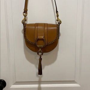 Frye Ilana leather wrapped saddle bag